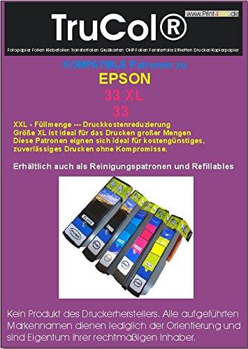 Preisvergleich Produktbild 5 Kompatible Wiederbefüllbare leere Patronen ARC (mit Autoresetchip) ( 1 Set – Alle Farben ) zu Epson 33xl Schwarz Cyan Magenta Yellow Fotoschwarz Tintenpatrone mit Hohe Kapazität schwarz : 24ml ; Farben : 12ml kompatibel zu XP-640 XP-540 XP-530 XP-630 XP-830 XP-635 XP-645 XP-640 XP-630 XP-900