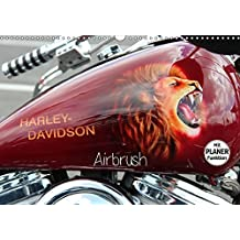 Harley Davidson - Airbrush (Wandkalender 2017 DIN A3 quer): Amerikas Motorradlegende Nr.1 (Geburtstagskalender, 14 Seiten ) (CALVENDO Kunst)