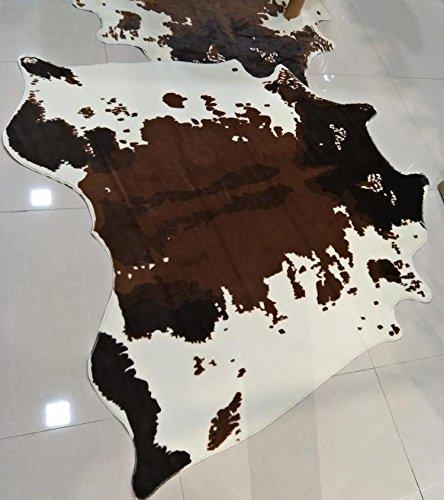 Deutsches Elektronen-Synchrotron 144* 136cm Teppich, Kaffee Tisch MATS, Nachahmung Kuh Leder Teppich Teppiche Mat