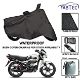 #8: Fabtec Premium Quality Waterproof Bike Cover With Buckle Lock & Storage Bag Free For Hero Passion Pro