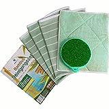 MYPRIMA Profi-Reinigungstücher | 5er-Set | Geschirrtuch | 2 Starke Vorreinigungs- und 2 Reinigungstücher mit Bambus-Fasern