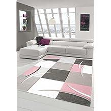 Designer Tapis contemporain tapis du salon motif floral Creme Vert ...