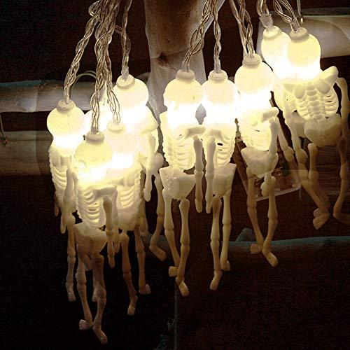 Wondder Halloween Luces de Cadena Calavera Fantasma Luz LED con...
