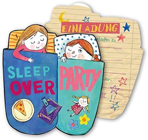 SLEEPOVER * für eine Übernachtungs-Party // von DH-Konzept // Kinder Geburtstag Party Einladung Einladungen Karte Mottoparty ()