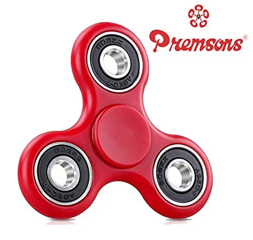 Premsons 608 Four Bearing Fidget Spinner, Red/Black