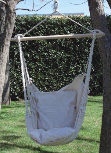 PAPPILON 055516 - Chaise balancelle avec Croisillon de Soutien - Couleur : Beige