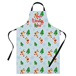Personalised Rudolf Christmas Apron for Women & Men - Add your own Text