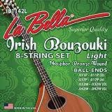 La Bella IB1245H Irish Bouzouki - Muta di 8 corde in bronzo fosforescente
