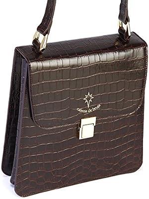 Bolso marrón de mujer 100% piel, hecho en Ubrique/Brown bag 100% leather handmade in Spain.