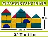 Großbausteine Kindergarten Kita Qualität Kunstleder-Bezug Reißverschluß 24 Teile