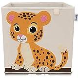 Lifeney Kinder Aufbewahrungsbox I praktische Aufbewahrungsbox für jedes Kinderzimmer I Kinder Spielkiste I Niedliche Spielzeugbox I Korb zur Aufbewahrung von Kinder Spielsachen (Tiger hell)