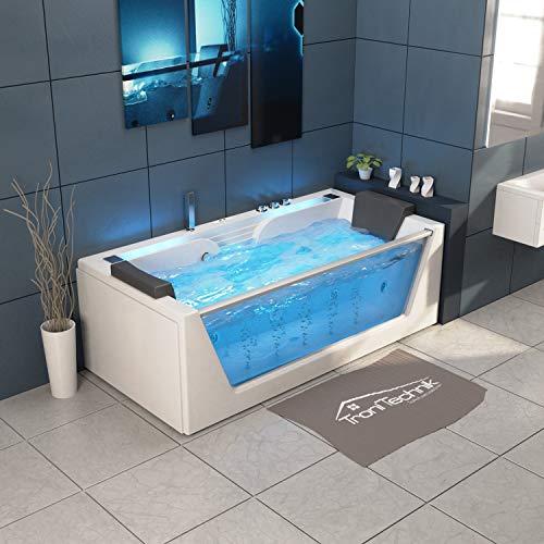 TroniTechnik Whirlpool Badewanne KOS 2 179cm x 85cm mit Heizung Hydromassage Bachlauf und Farblichtherapie - 5