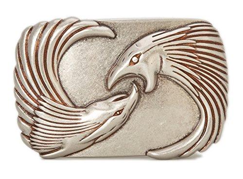 Gurscour Mode Western Antik Silber Graviert Adler G?rtelschnalle (Antik-neuheit)