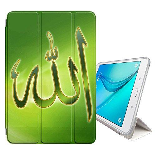 """FJCases Islam Muslim Koran Quora Allah Smart Cover Tablet-Schutzhülle Hülle Tasche + Auto aufwachen/Schlaf Funktion für Samsung Galaxy Tab S3-9.7"""" (T820/T825/T827 Series)"""