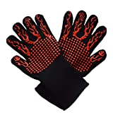 FENGT BBQ Grill Cooking Gloves Extreme 932°F Heat Resistant Oven Gloves For Cooking