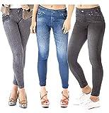 Zlimmy 3 X Slim Caresse Jeans Skinny Jeggings Shapewear Slimming Control[S/M]