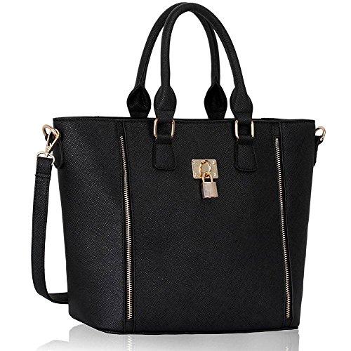 TrendStar Frauen Schulterhandtaschen Damen Berühmtheit Eimer Stil Für Leinentrage Handtaschen (Leder-satchel Luxe)