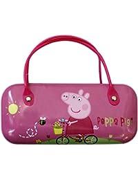 Official Licensed Girls Peppa Pig Sunglasses Glasses Pink Case Bike Design