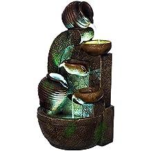 AuBergewohnlich Bella Catalina XL Brunnen Wasserkrüge Steinmauer,mit 3 LED  Leuchten,G53 17088,
