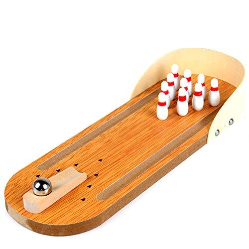 NUOLUX Tisch Mini Bowling Ball Set für Kinder Erwachsene