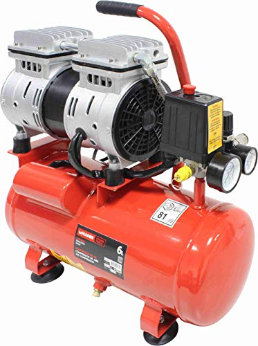 Mader Power Tools 09371 Compresor de Aire Monobloco, 6L, Portable, Silencioso, Económico, Ecológico...
