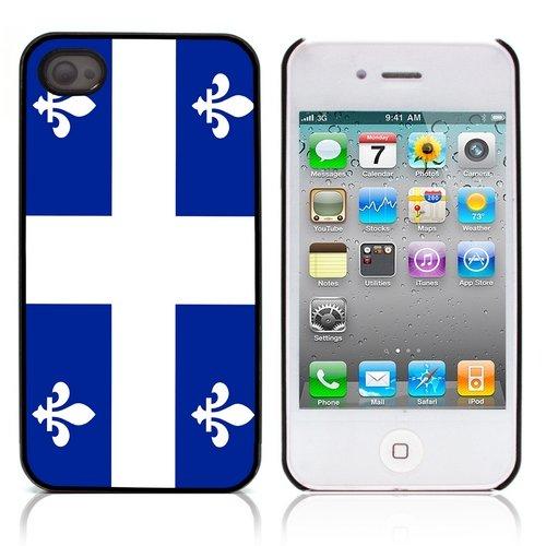 "Graphic4You Quebec ""La Belle Province"" Flagge Design Harte Hülle Case Tasche Schutzhülle für Apple iPhone 4 und 4S Quebec"