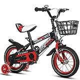 Fenfen Kinder Fahrrad 18-Zoll-männlich und weiblich Kinderwagen 6-9-jährige Kind Auto High-Carbon-Stahlrahmen, Orange/Blau/Rot (Color : Red)
