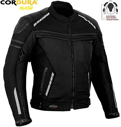 Veste textile textile en maille pour homme - Technologie CE - Pour moto - Été
