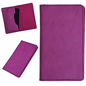 DCR Pu Leather case cover for Intex Aqua Xtreme (pink)