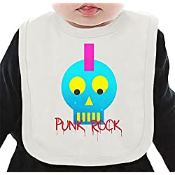 Punk Rock Head Babero orgánico Medium