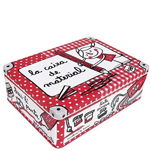 laroom-12581-metal-box-la-caixa-of-material-red