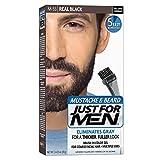 Just For Men Mustache & Beard #M-55 Real Black Color Gel (2 Pack)