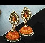 #8: silk thread Jhumki Earring