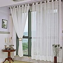 kinlo visillo cortinas drapeadas gasa tul de lino cortina blanca de ventana habitacin tamao