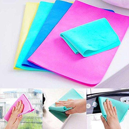 Magic-lavaggio-auto-strofinare-asciugamano-assorbitore-di-panno-di-pelle-scamosciata-sintetica-buona