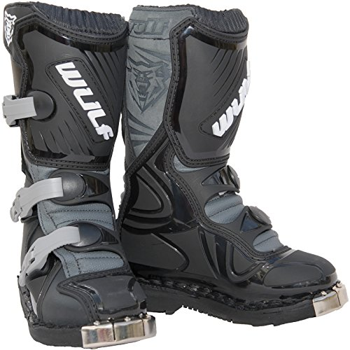 Wulf Cub LA Junior Motocross Boots 38 Black (UK 5)