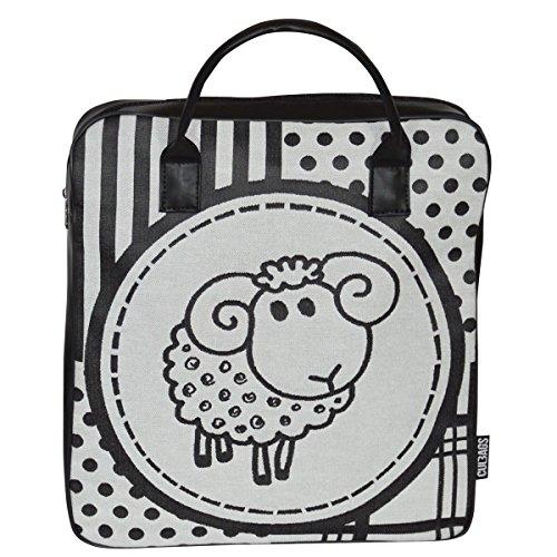 C-BAGS IZZY ZOO ECO LEATHER Gepäckträger Fahrradtasche verschiedene Muster sheep