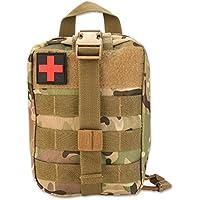 Botiquín de primeros auxilios, Molle Médico Bolsa Botiquín de Primeros Auxilios Supervivencia Emergencia para Hogar Camping Caza, Bolsa de Primeros Auxilios, Bolsa de Emergencia de Escalada(Camuflaje)