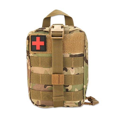 VGEBY1 Erste Hilfe Tasche Molle Taktische Gürteltasche Rucksack Molle Notfalltasche für Outdoor Camping Sport Reisen Wandern(Tarnen)