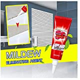 Mold Mildew Remover Gel,Remove 99% Mold Miracle Cleaning Gel,Home Deep Down Cleaning Ceramic Wall Stain Cleaner Caulk Gel,for Kitchen Bathroom Toilet Tile Pool 120g/0.3lb