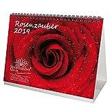 Rosenzauber · DIN A5 · Premium Tischkalender / Kalender 2019 · Rose · Valentinstag · Blume · Schmetterling · Natur · Garten · Blüte · Farbe · Botanik · Geschenk-Set mit 1 Grußkarte und 1 Weihnachtskarte · Edition Seelenzauber