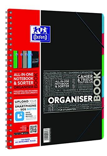Oxford Etudiant Cahier à spirales connecté SOS Notes 160 pages 245 x 310 mm Aléatoire