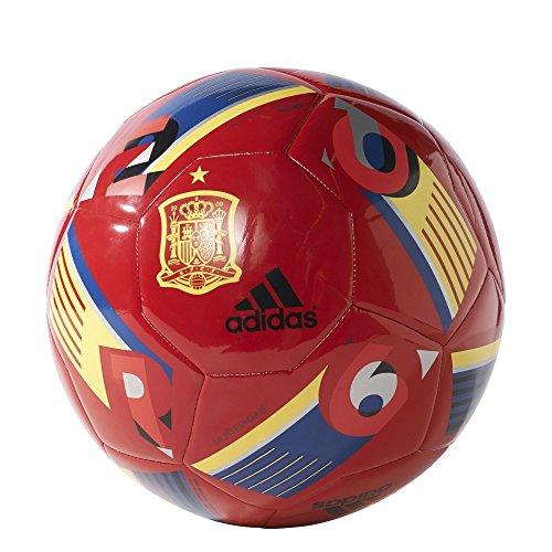 adidas Fußball EURO16 Spanien Capitano Scarlet/Collegiate Royal/Bright Yellow, 5 (Euro Glider Fußball-ball)