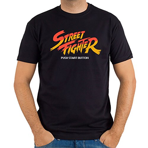 Nosolo Camisetas - Camiseta Street Fighter, Color Negro, Talla XL
