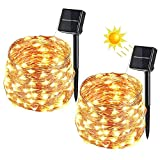 Guirlande Lumineuse Solaire, VegaHome 2 x 10M 100 LED Guirlande Solaire...