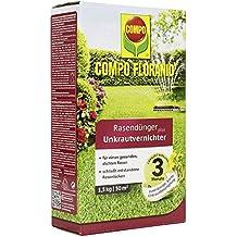 Compo floranid Cuidado Del Césped–Abono Plus 1,5kg herbicida para 50m², color verde
