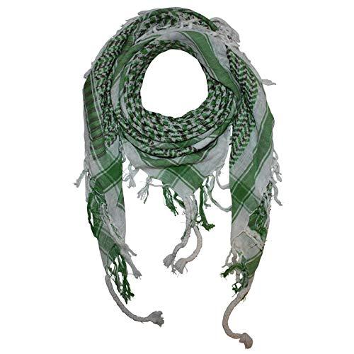 Superfreak Palituch - weiß - grün-olivgrün - grün - 100x100 cm - Pali Palästinenser Arafat Tuch - 100{77a41921e1a742da7aa88de33fc5fe6e02f90097deecf993c956ec8c5e61c5f9} Baumwolle