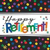 Amscan 511552Papierservietten 33cm Happy Retirement