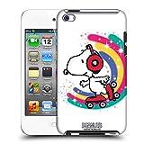 Offizielle Peanuts Farbiger Schlittschuhlauf Snoopy Plankenweg-Spritzpistole Ruckseite Hülle für Apple iPod Touch 4G 4th Gen