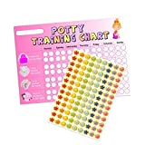 A3 Pink Girls Potty/Toilet Training Chart & Star Stickers for Teachers, Parents & Schools